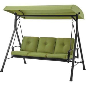 Mainstays Belden Park 3-Person Canopy Porch Swing Bed, Green for Sale in Mesa, AZ