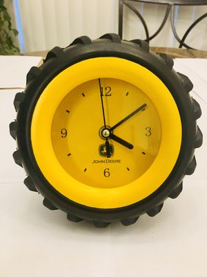 John Deere Tractor Tire Table Wall Clock Cool for Sale in Spring Hill, FL