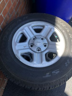 OEM Jeep Wrangler wheels and tires for Sale in New Market, MD