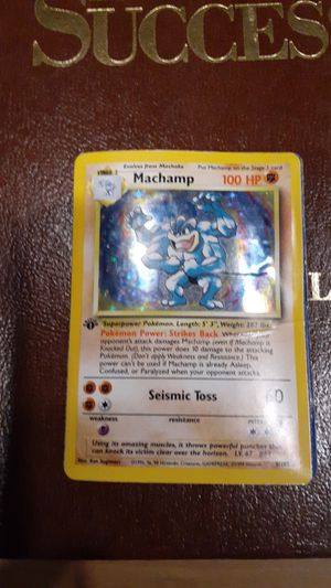 Machamp 1st edition Pokemon card real for Sale in Pompano Beach, FL