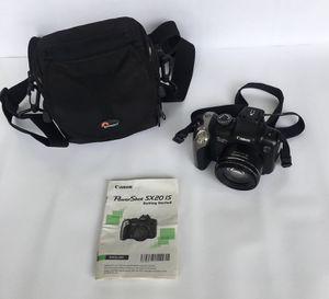 Canon Power Shot SX20 IS with camera case and SDHC card for Sale in Olney, MD