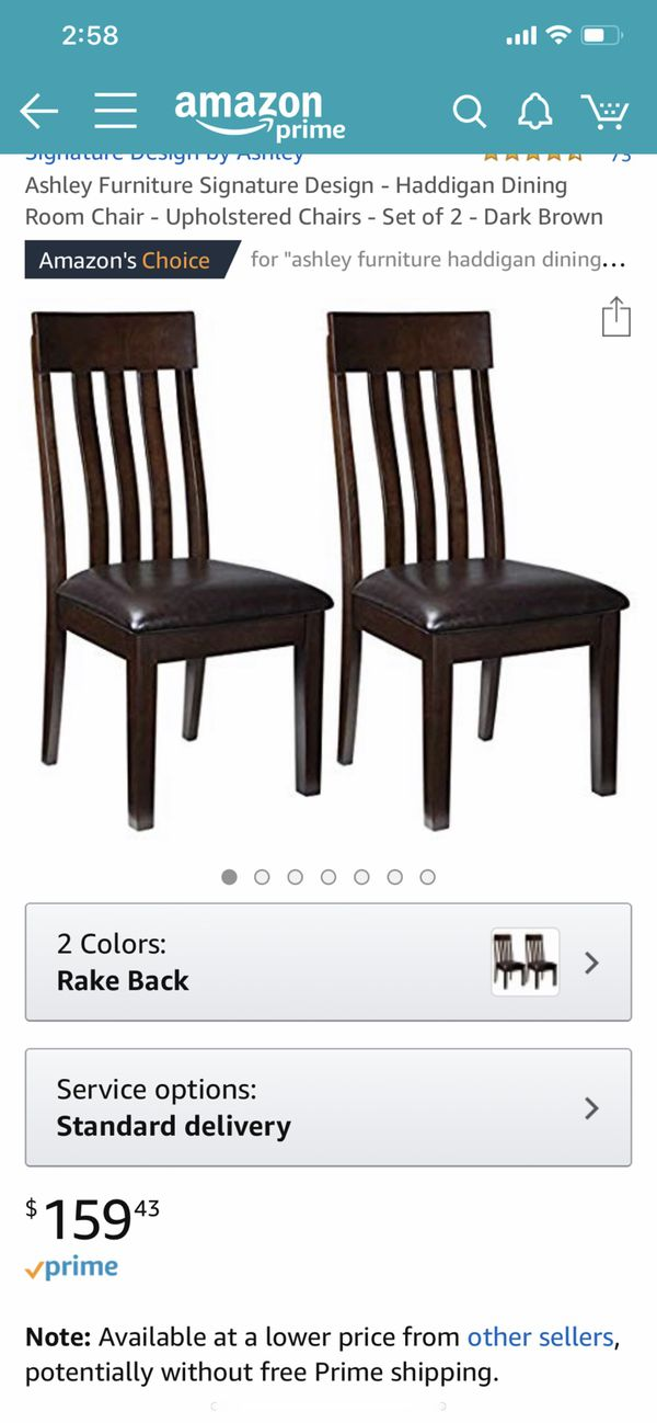 2 new Ashley furniture dining chairs