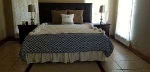 King sized bed frame with matress for Sale in Harlingen, TX