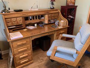 Solid Oak Rolltop Desk for Sale in Georgetown, TX