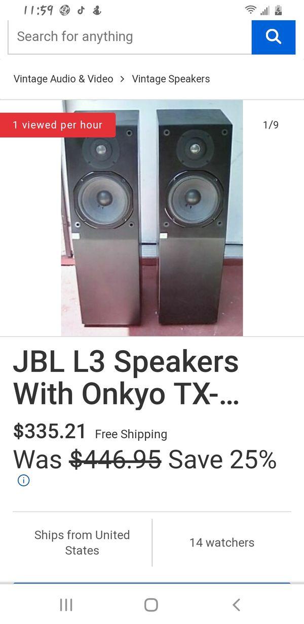 JBL'S L-3 TITANIUM TWEETERS UNBELIEVABLY BASS
