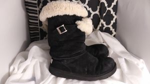 UGGS BOOTS SZ 8 1/2 black leather for Sale in Seattle, WA
