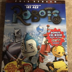 Robots Full Screen Dvd Movie for Sale in Elma, WA