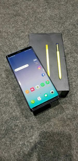 SAMSUNG Galaxy Note 9, Factory Unlocked..( Almost New Condition) for Sale in Springfield, VA