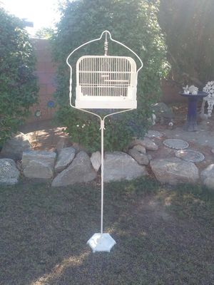Metal Bird Cage on Stand for Sale in Palm Desert, CA