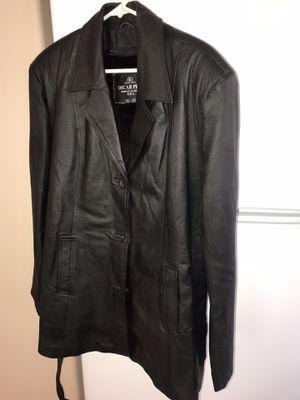Women's size 3XL black leather jacket by Oscar Piel BRAND NEW for Sale in Phoenix, AZ