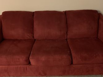 MUST GO ASAP Red microfiber Couch for Sale in Silver Spring, MD
