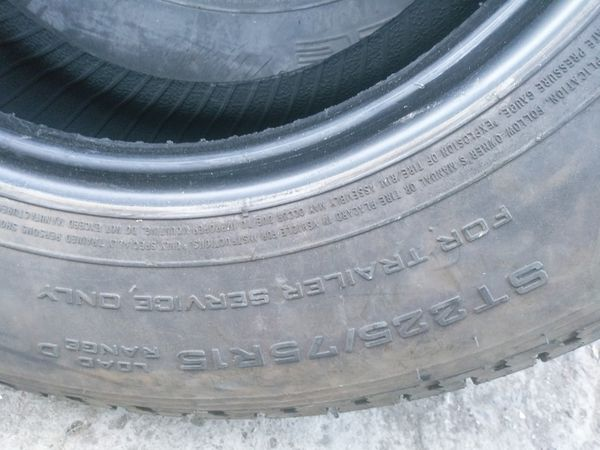 Trailer Tires ST225/75R15 load range D