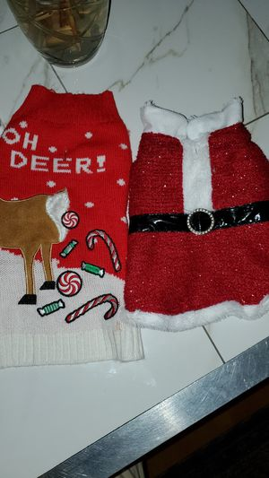 New Dog Sweater and Santa Jacket for Sale in Washington, DC