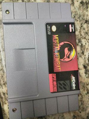 Mortal Kombat for SNES for Sale in San Jose, CA