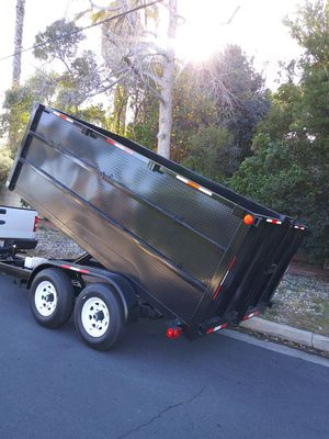 BRAND NEW DUMP TRAILER 8X12X4 HEAVY DUTY HYDRAULIC SYSTEM BOX,6000 LBS EACH AXLE TITLE IN HAND FOR ANY QUESTION TEXT ME PLEASE.D for Sale in Los Angeles, CA