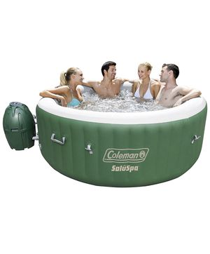 Coleman Inflatable Hot Tub Spa, Green White jacuzzi for Sale in Chicago, IL