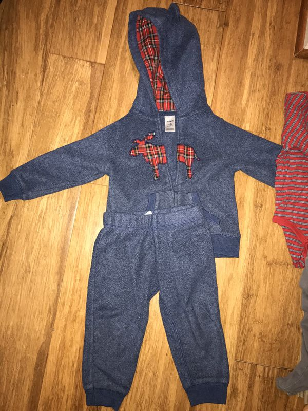 Carters baby boy fleece warm outfit 18 months