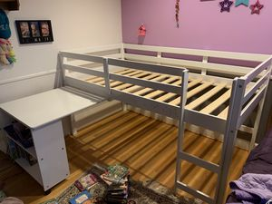 IKEA Kids Twin Size Bed with Desk, Mattress and Chair for Sale in Herndon, VA