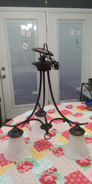 3 Light Bronze Chandelier for Sale in Lytle, TX
