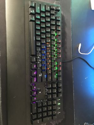 Blackweb RGB Mechanical Keyboard with blue switches for Sale in Tupelo, MS