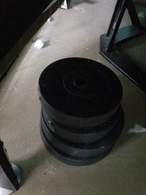 Curling bar. Weights for Sale in West Palm Beach, FL