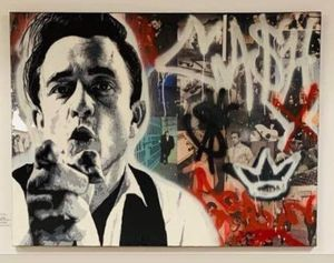 Custom Painting of Johnny Cash. 36x48. Would make a great Xmas gift. Price reduced. for Sale in Mabelvale, AR