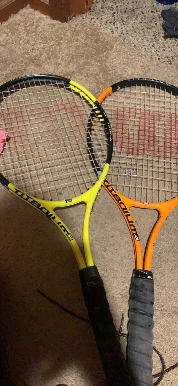 Wilson Titanium 3 tennis rackets with cases