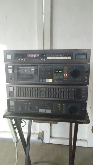 Kenwood home stereo rack system 80s japan amp eq cassette tuner works for Sale in Corona, CA