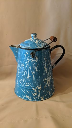 Vintage Enamel Coffee P ot for Sale in Zebulon, NC