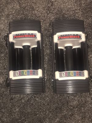 POWER - BLOCKS PERSONAL TRAINERS WORKOUT WEIGHT SET, 5 to 50 POUNDS PER DUMBBELL. for Sale in Las Vegas, NV
