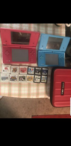 Nintendo DS Wholesale LOT- Mario games, 2 3DS's & cases for Sale in Washington, DC