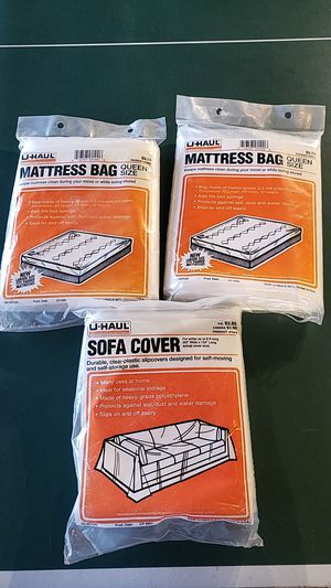 2 queen size matress moving bags. 1 sofa bag for Sale in Federal Way, WA