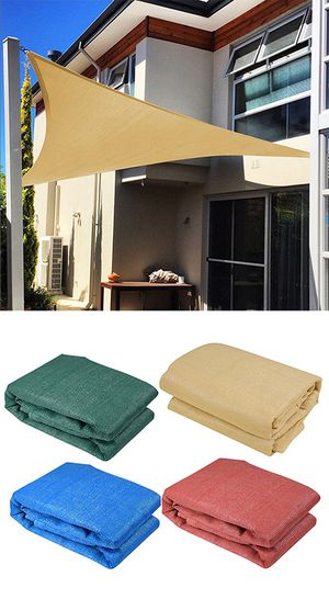 NEW $25 Triangle 16.5' Sun Shade Sail for Sale in Downey, CA