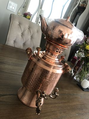 Pure Copper Samovar Tea Pot Set for Sale in San Diego, CA