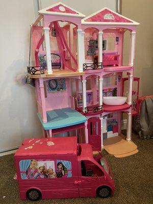 Barbie Doll house + Van for Sale in Ontario, CA
