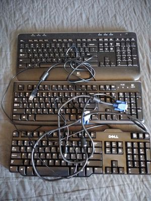3 keyboards + vga cable for Sale in San Dimas, CA