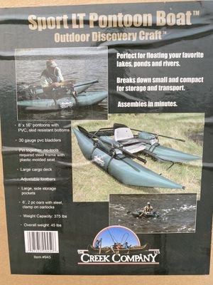 8ft Inflatable Pontoon boat fishing kayak for Sale in Mesa, AZ
