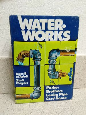 Water Works Leaky Pipe Card Game Parker Brothers Vintage 1976 Checked Complete Set for Sale in Redding, CA
