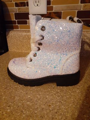 White Glitter Boots for Sale in Winston-Salem, NC