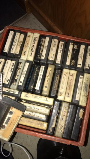 Crate full of a-track tapes.. $40 obo for Sale in Ada, OK