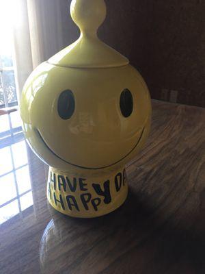 Antique cookie jar original smiley face for Sale in Fairfax, VA