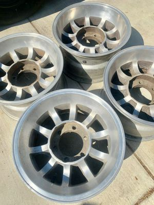 6 lug Western Mag Turbine wheels Toyota Chevy K5 blazer for Sale in San Fernando, CA