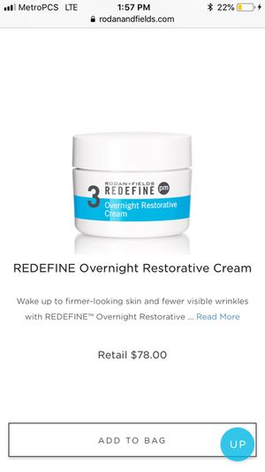 Rodan and Fields PM cream for Sale in Newtown, PA