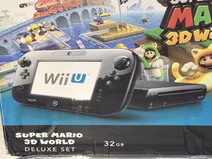 Nintendo Wii U Super Mario 3D World Deluxe set 32GB bundle for Sale in Fort Lauderdale, FL