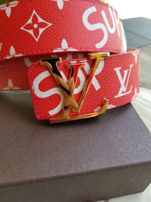 Leather Lv Belt for Sale in Fresno, CA