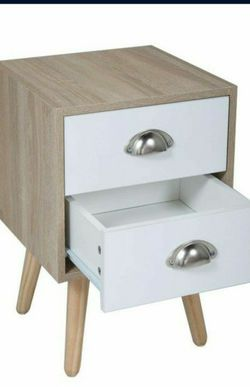 *New* Nightstand 2 Drawer White for Sale in Buena Park,  CA