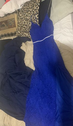 Blue sparkle prom dress for Sale in Orlando, FL