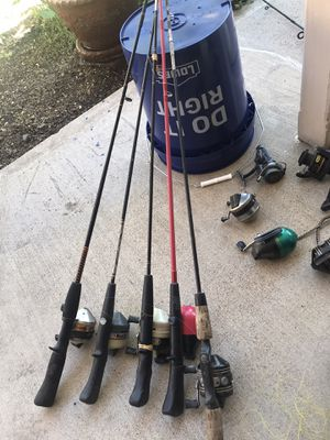 Fishing Poles & Reels most of Reels are Zebco for Sale in Brighton, CO