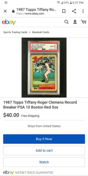 87 Topps Roger Clemens Record Breaker for Sale in Farmington, IL