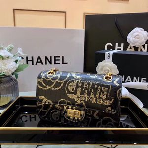 CHANEL Printed Calfskin & Gold Tone Metal shoulder bag. Authentic card and hologram , dust bag included. for Sale in Hollywood, FL